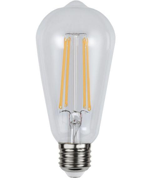 Decoration E27 Lanterne Klar 2100K 300lm 4,2W LED, Med lyssensor