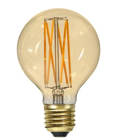 Dekorpære E27 G80 80mm Vintage Gold 1800K 4W LED 240lm, Dimbar