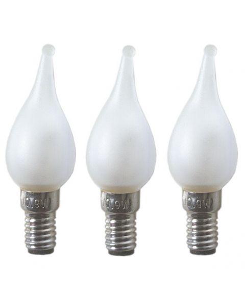 Reservepære glødelampe 12V E6 Frost, 3-pk