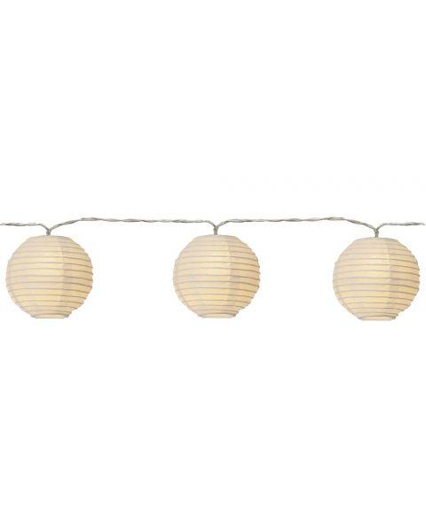 Festival slynge LED (x10), lengde 135 cm, Hvit