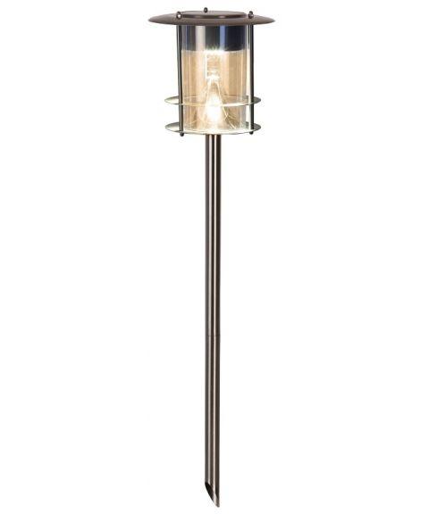 Valencia jordspyd, Solcelle, LED 15 lumen, høyde 65 cm, Stålfarget