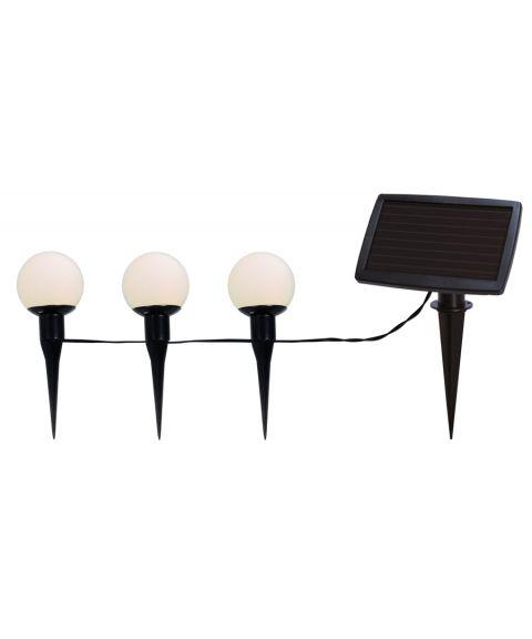 Globus lysslynge, Solcelle, LED, Baller Combo hengende/stående (x6), Hvite