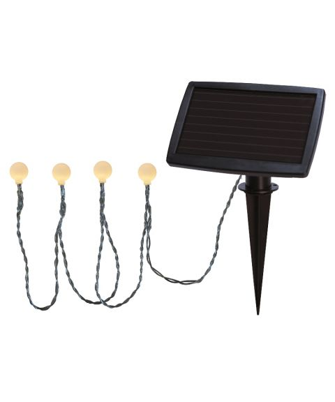 Globini lysslynge, Solcelle, LED, Baller (x20), Hvite
