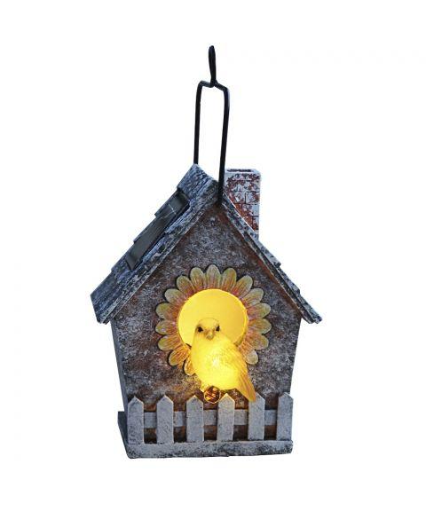Birdie Fuglehus, høyde 16 cm, Solcelle, LED