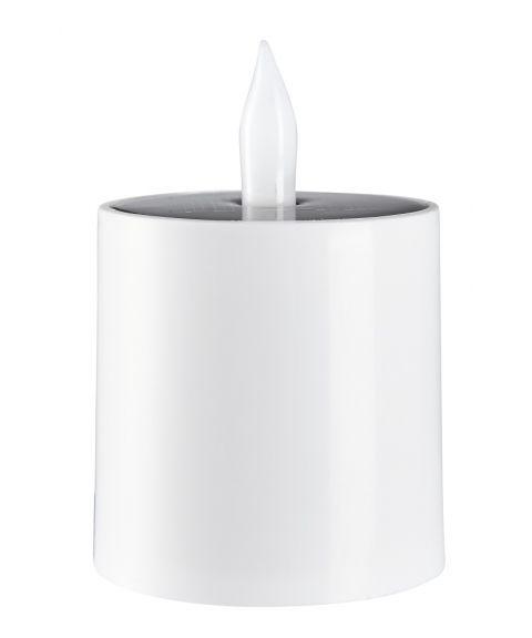 Saul plast kubbelys, høyde 11 cm, Solcelle, LED