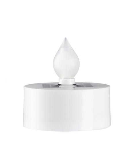 Saul plast T-lys, Solcelle, LED, 3-pk