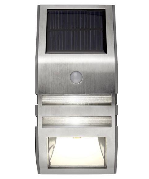 Wally vegglampe med bevegelsesensor, 50 lumen, Solcelle, LED