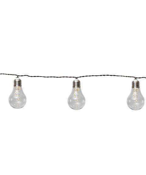 Glow slynge, Solcelle, LED 10-lyspærer, Klar