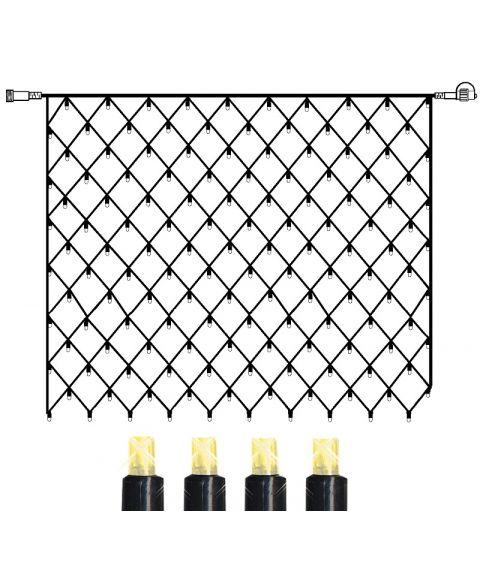 [2] Utvidelse System 24 - Lysnett 200x200 cm, Varmhvit LED (x140)