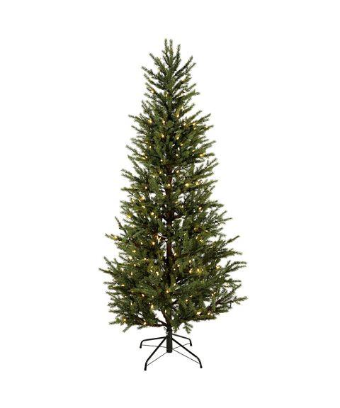 Juletre 200 cm, Malung, med LED (x240) PE, Grønn