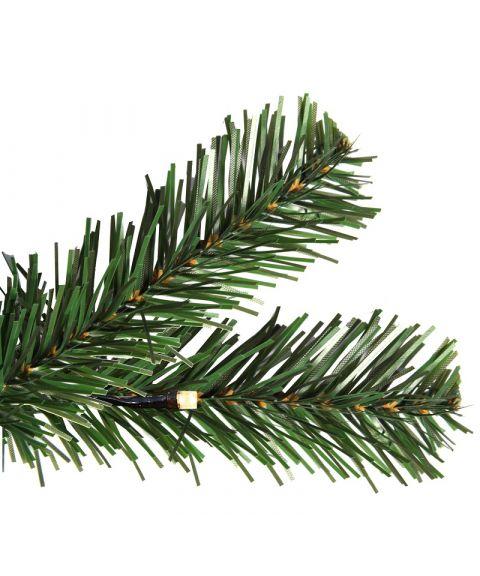 Juletre 180 cm, Ottawa, Formbart, med LED (x180), Grønn med varmhvite lys