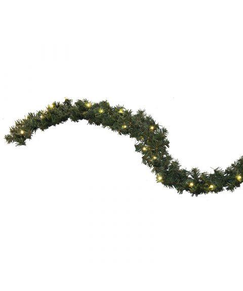 Girlander 270 cm, Alaska, LED (x30), Grønn