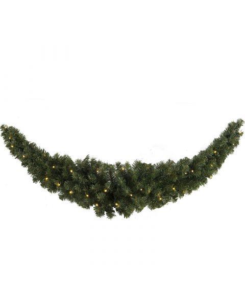Girlander 150 cm, Ottawa Swag, LED (x30), Grønn