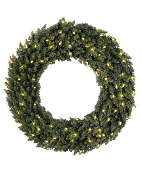Krans diameter 90 cm, Calgary, LED (x80), Grønn