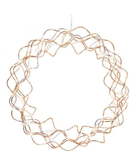 Krans Curly med duggdråper, diameter 30 cm, LED (x30)