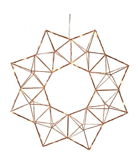Edge stjerne med duggdråper, diameter 40 cm, LED (x30)