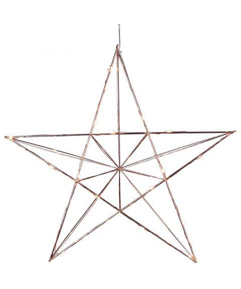 Line metallstjerne med duggdråper LED (x20)