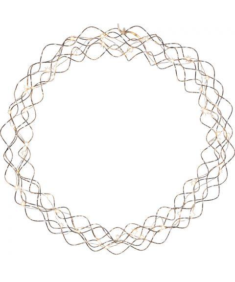 Krans Curly med duggdråper, diameter 45 cm, LED (x50)