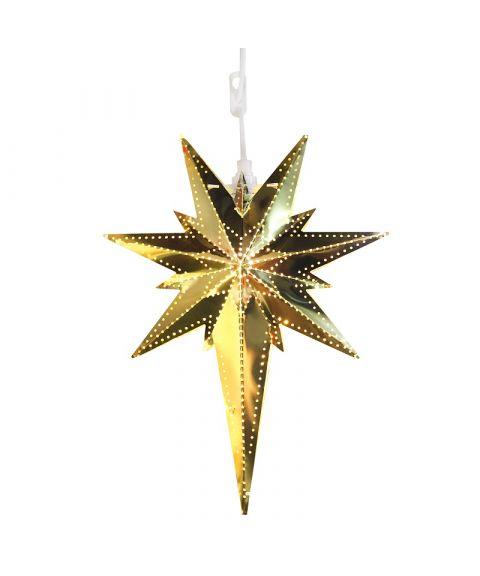 Metallstjerne Betlehem, høyde 35 cm, Messingfarget