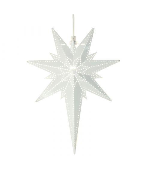 Metallstjerne Betlehem, høyde 35 cm, Hvit