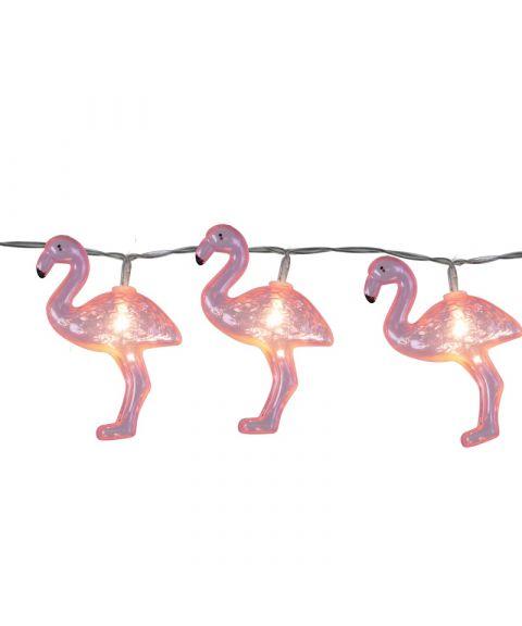 Festlenke Flamingo, lengde 180 cm, LED (x10), for batteri, med timer