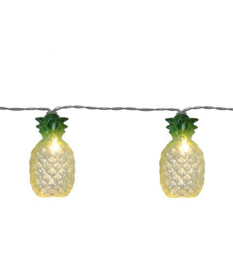 Festlenke Ananas, lengde 180 cm, LED (x10), for batteri, med timer