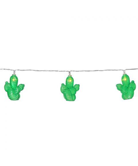 Fruity slynge Kaktus, lengde 135 cm, LED (x10) for batteri, med timer