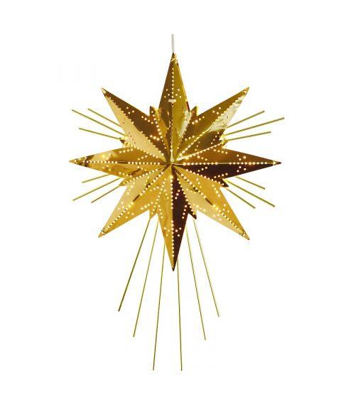 Stjerne Mini-Luxe, høyde 36 cm, Messingfarget