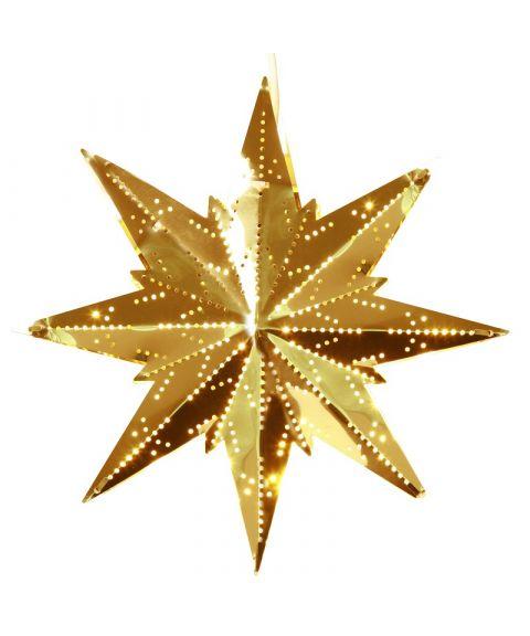 Metallstjerne Mini, høyde 25 cm, Messingfarget