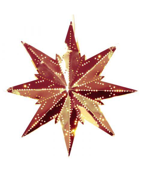 Metallstjerne Mini, høyde 25 cm, Kobberfarget