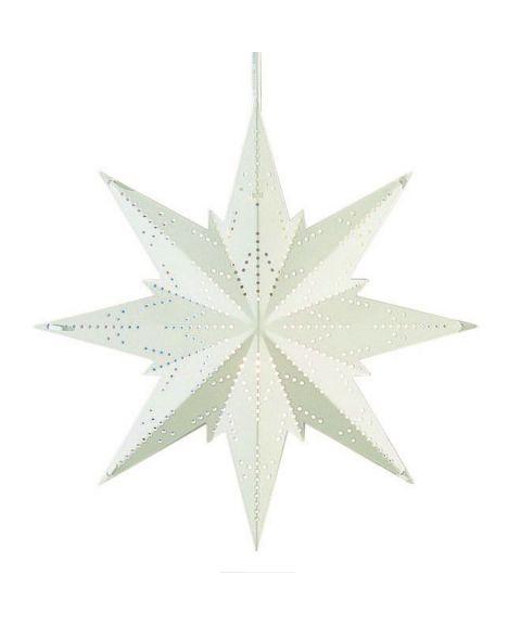 Metallstjerne Mini, høyde 25 cm, Hvit