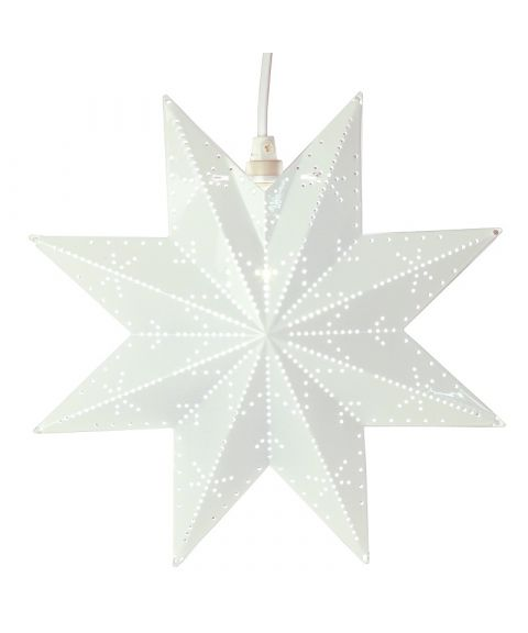 Metallstjerne Classic, høyde 28 cm, Hvit