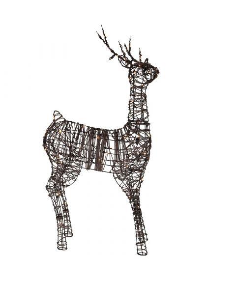 Reinsdyr i rotting 120 cm, Brun