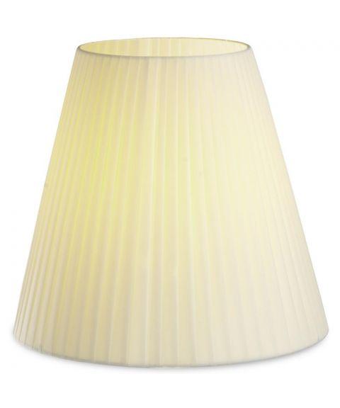 Dress Up! stoffskjerm, beige plissé (ø:400mm)