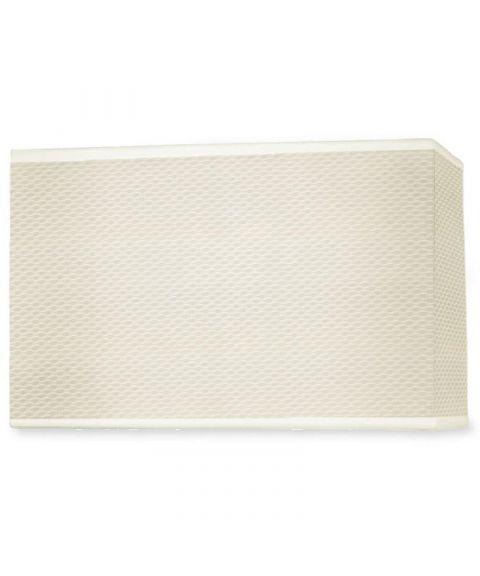 Dress Up! stoffskjerm, beige perforert, 36 cm x 18,5 cm
