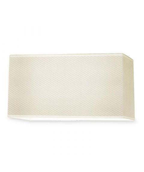 Dress Up! stoffskjerm, beige perforert, B: 40 cm, H: 23 cm, D: 20 cm