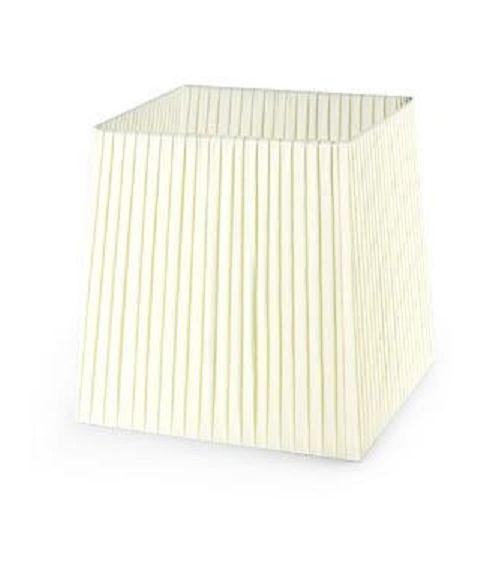 Dress Up! stoffskjerm, beige plissé, B: 13 cm, D: 11 cm, H: 13 cm
