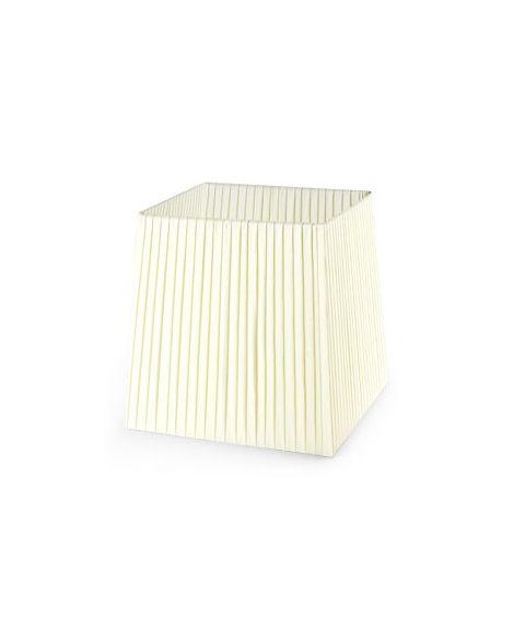 Dress Up! stoffskjerm, beige plissé, B: 18 cm, D: 15 cm, H: 18,6 cm
