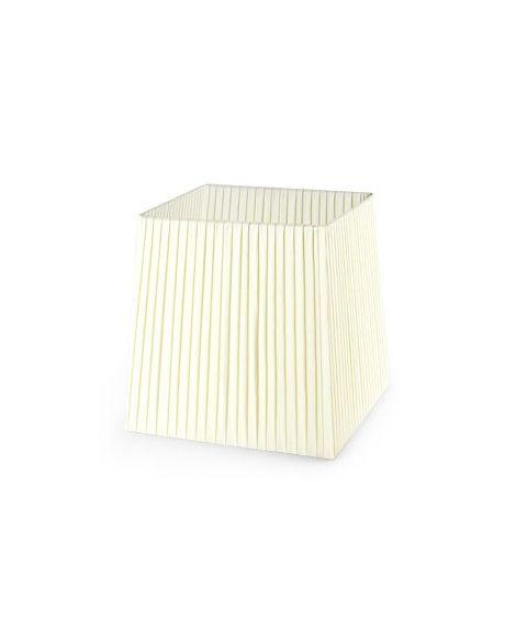 Dress Up! stoffskjerm, beige plissé, B: 21 cm, D: 18 cm, H: 21,5 cm