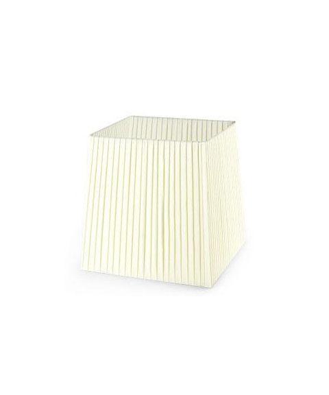 Dress Up! stoffskjerm, beige plissé, 30 cm x 30 cm