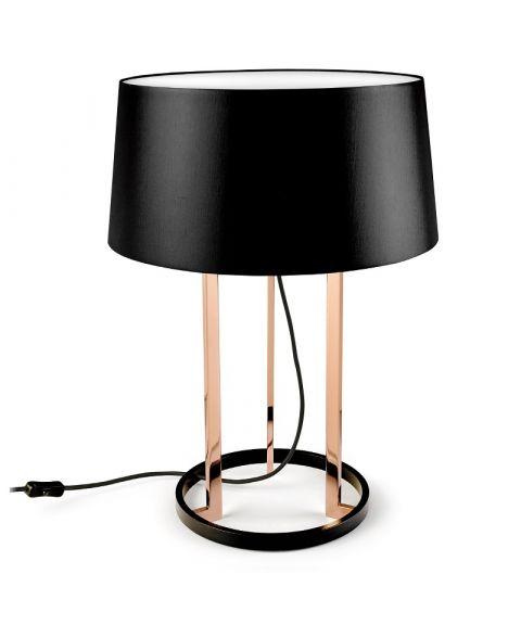 Premium bordlampe, høyde 59 cm, Kobber/Sort
