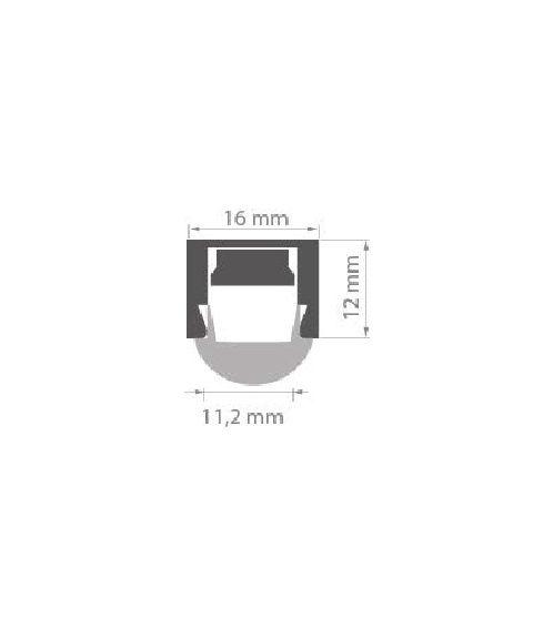 Aluminiumsprofil Regulor ZWK (u/avdekning), anodisert aluminium, 2 meter