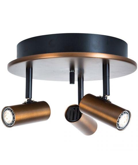 Cato S6764 takspot, inkl LED-pærer, Dimbar