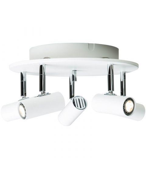Cato S6765 takspot, inkl LED-pærer, Dimbar