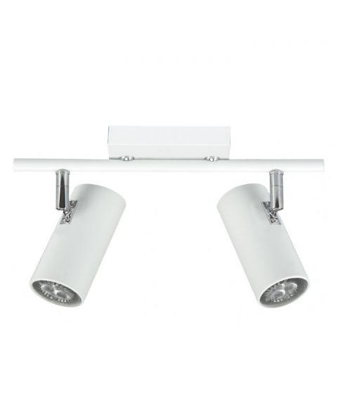 Tyson S6887 duo takspot, inkl LED-pærer, dimbar, Matt hvit