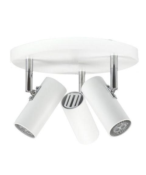 Tyson S6889 triospot, inkl LED-pærer, Matt hvit