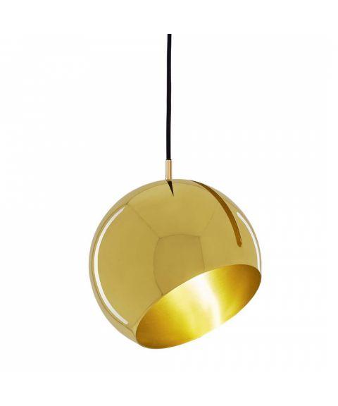 Tilt Globe takpendel i messing, diameter 20 cm