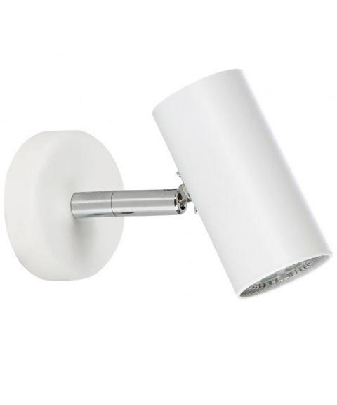 Tyson S6886 vegglampe / taklampe, inkl LED-pære, Matt hvit