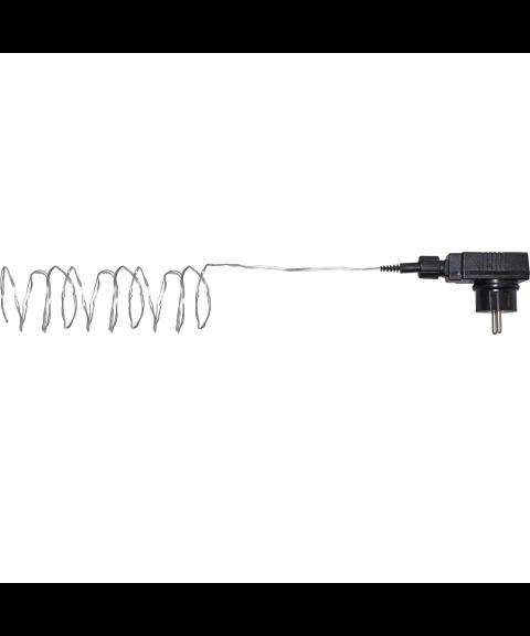 Bukettslynge med duggdråper, Utendørs, Varmhvit LED (x360), Sølvfarget kabel