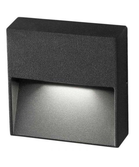 Vigo Q utendørs vegglampe, høyde 11 cm, 4W LED 3000K 485lm